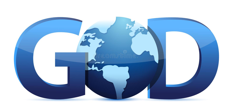 Download God text and globe stock illustration. Image of illustration - 28956391
