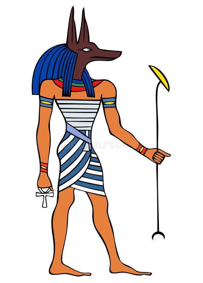 God van Oude Egypte - Anubis stock illustratie