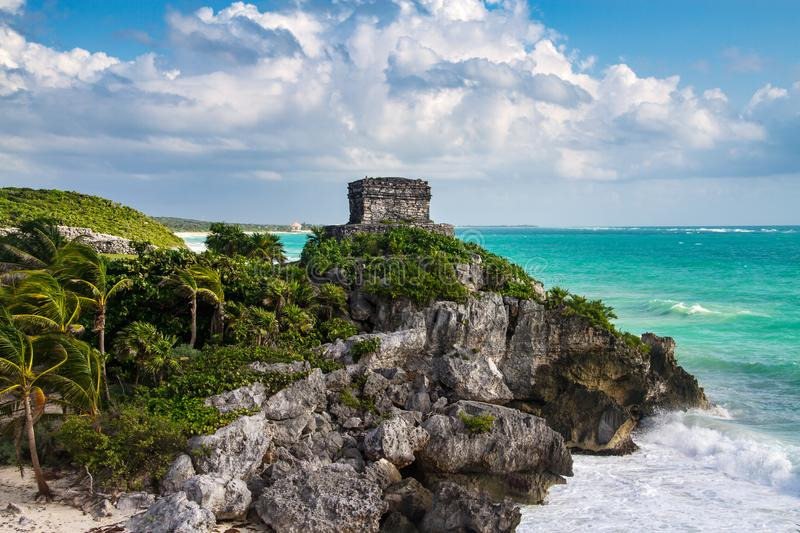 God of Winds Temple - Tulum, Mexico. Temple God of Winds in Tulum, Mexico stock photo