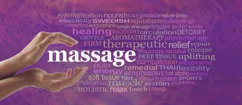Goda dei benefici del massaggio fotografia stock libera da diritti