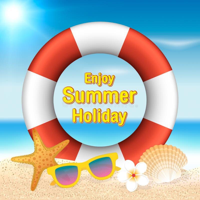 Goda del fondo di vacanza estiva Vacanza di stagione, fine settimana Vecto royalty illustrazione gratis
