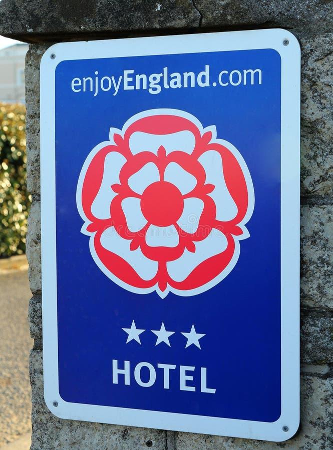 Goda del segno dell'Inghilterra fotografie stock