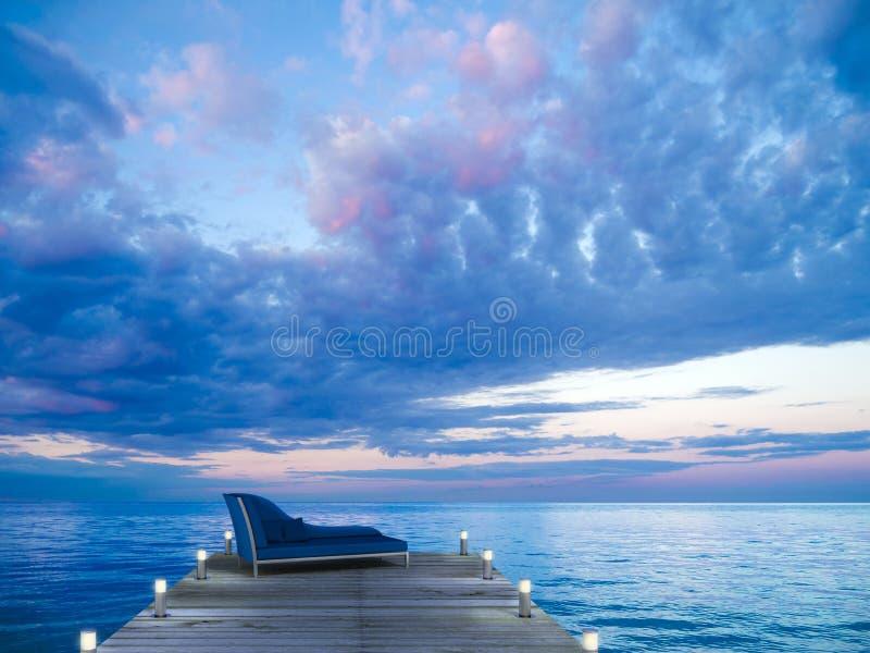 Goda del tramonto fotografie stock