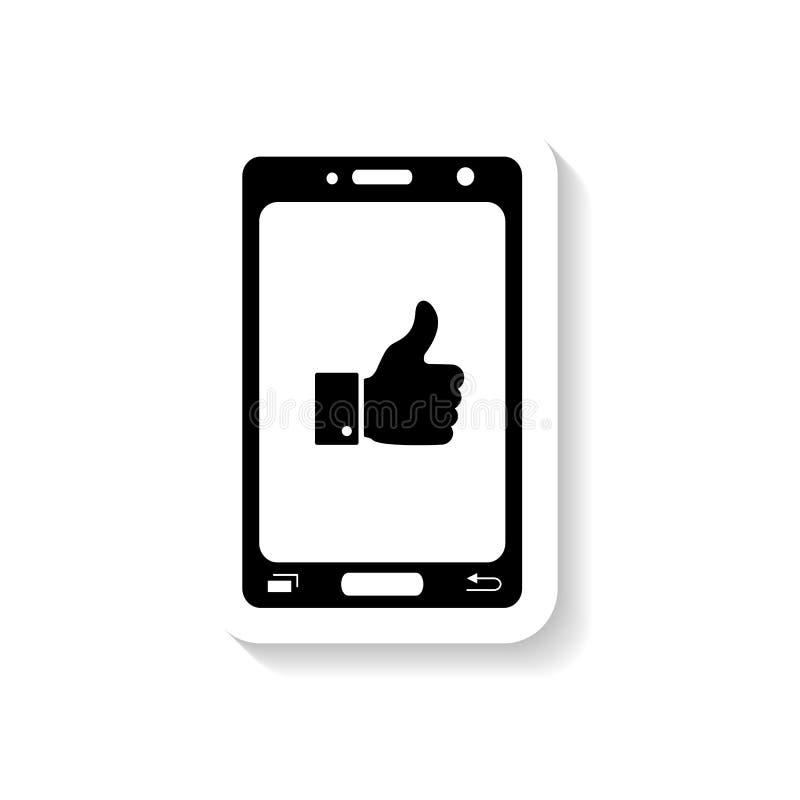 Goda nyheter vid telefonen, meddelandesymboler stock illustrationer