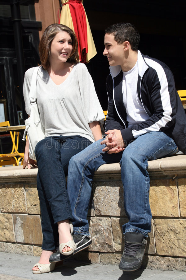 goda par ha tonåringtid royaltyfria bilder
