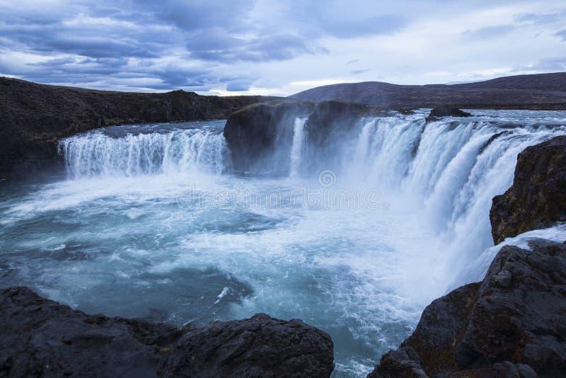 godafoss冰岛瀑布 库存图片