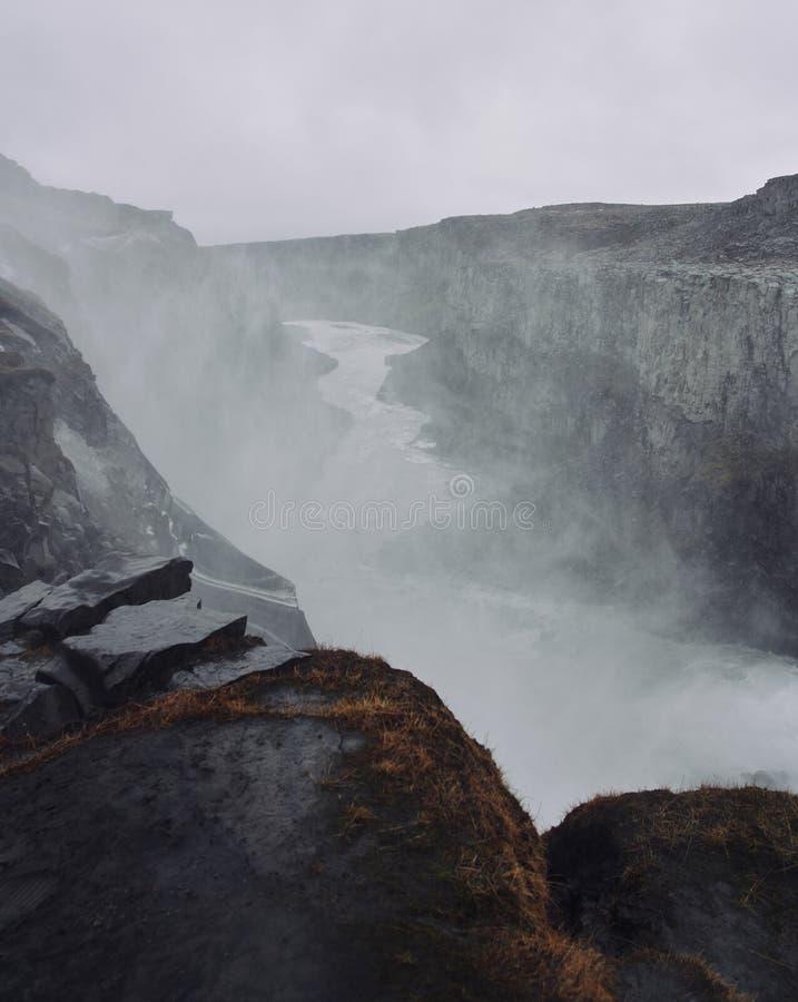 Godafoss, Jeden s?awne siklawy w Iceland zdjęcia royalty free