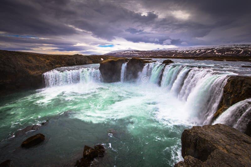 Godafoss - May 07, 2018: The mighty Godafoss waterfall, Iceland stock photos
