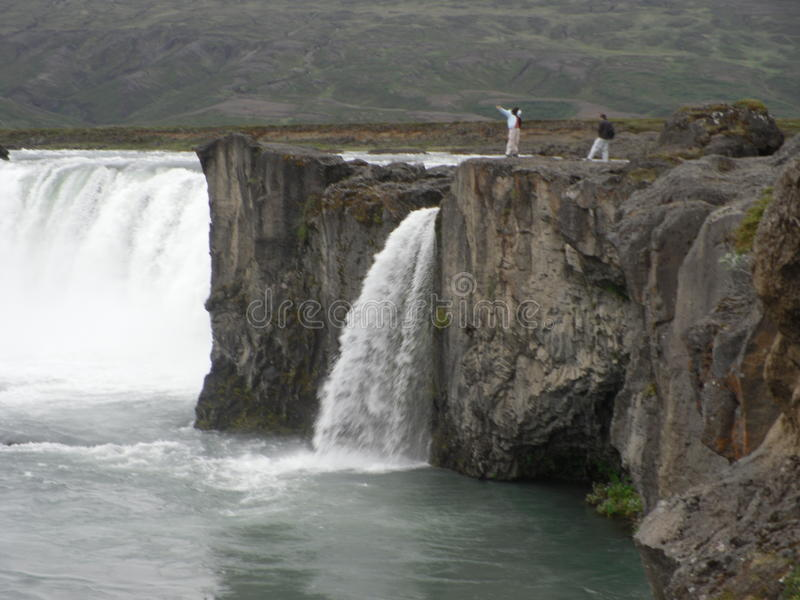 Godafoss- North iceland royalty free stock images