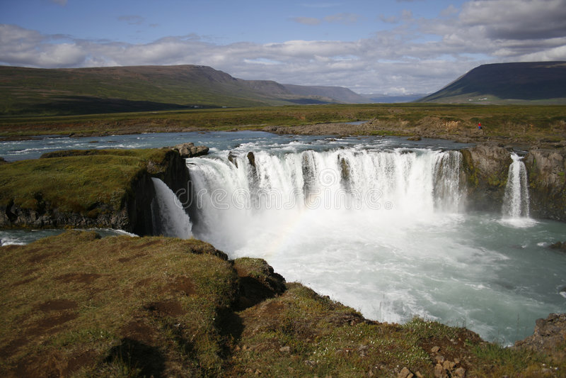 Godafoss waterfall stock images
