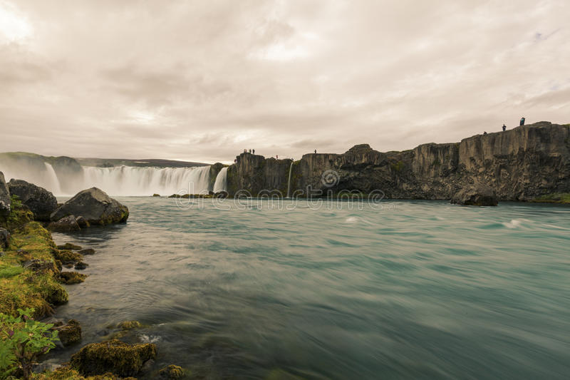 Godafoss-Waterfall of Gods. In north Iceland royalty free stock images