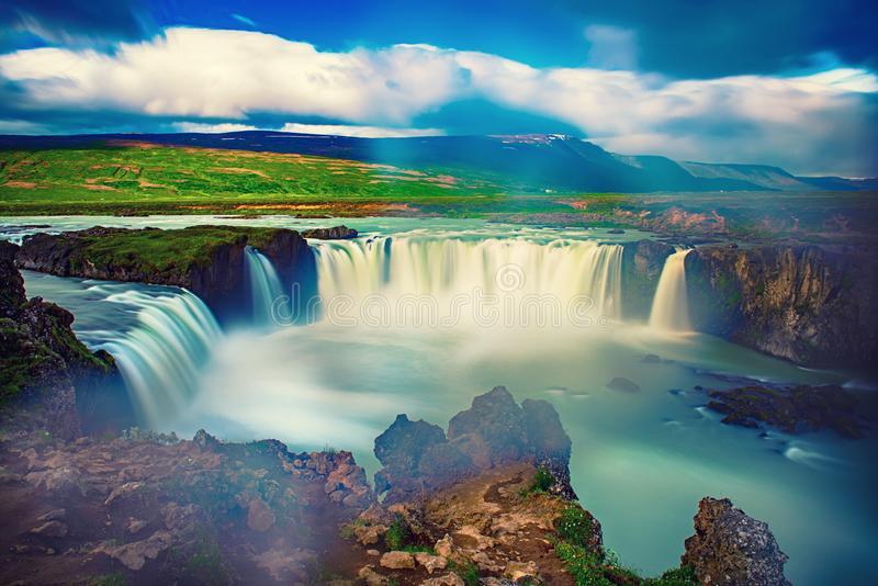 Godafoss waterfall in Iceland royalty free stock image