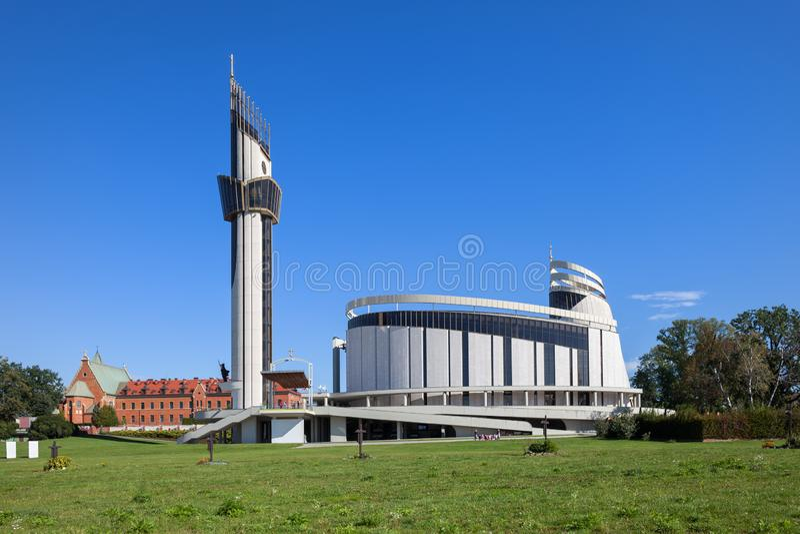 Goddelijk Genadeheiligdom in Krakau stock afbeeldingen