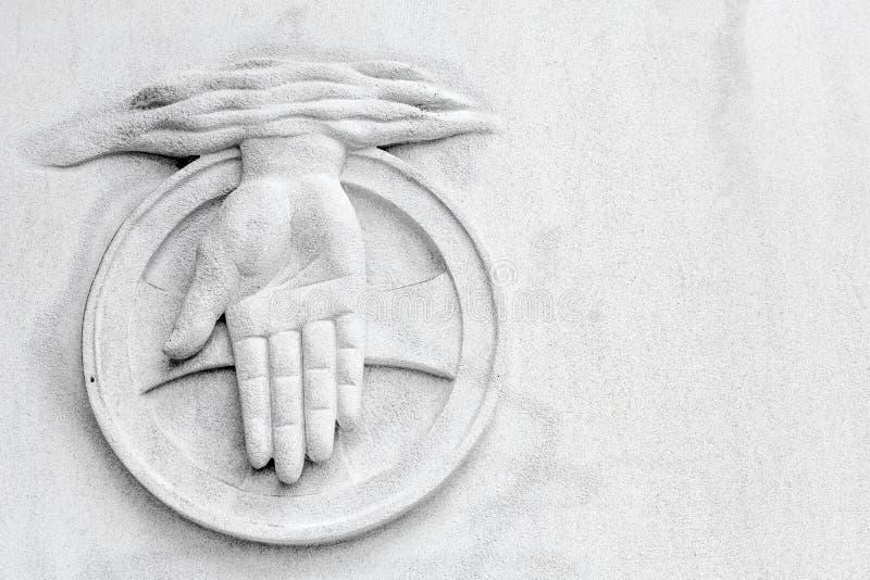 Goddelijk Handsymbool op Witte Achtergrond stock fotografie
