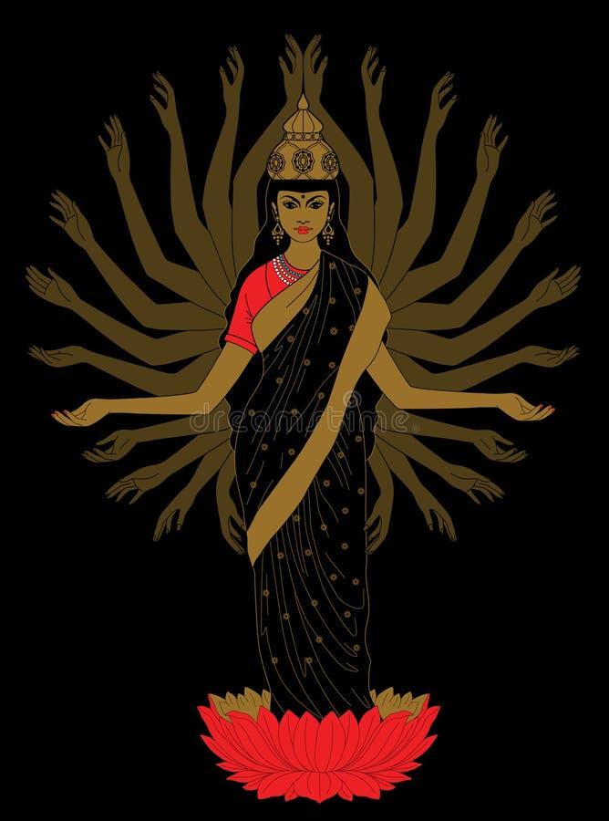 goddess ilustração stock