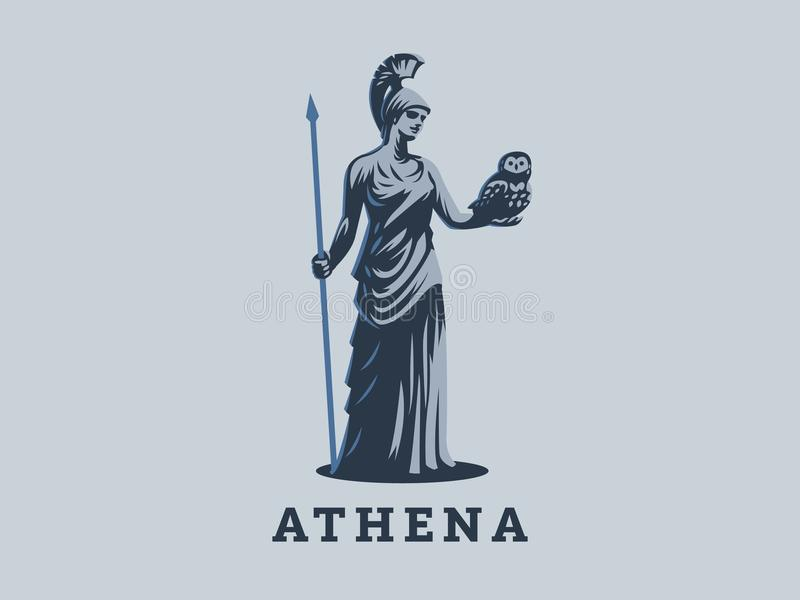 The goddess Athena. royalty free illustration