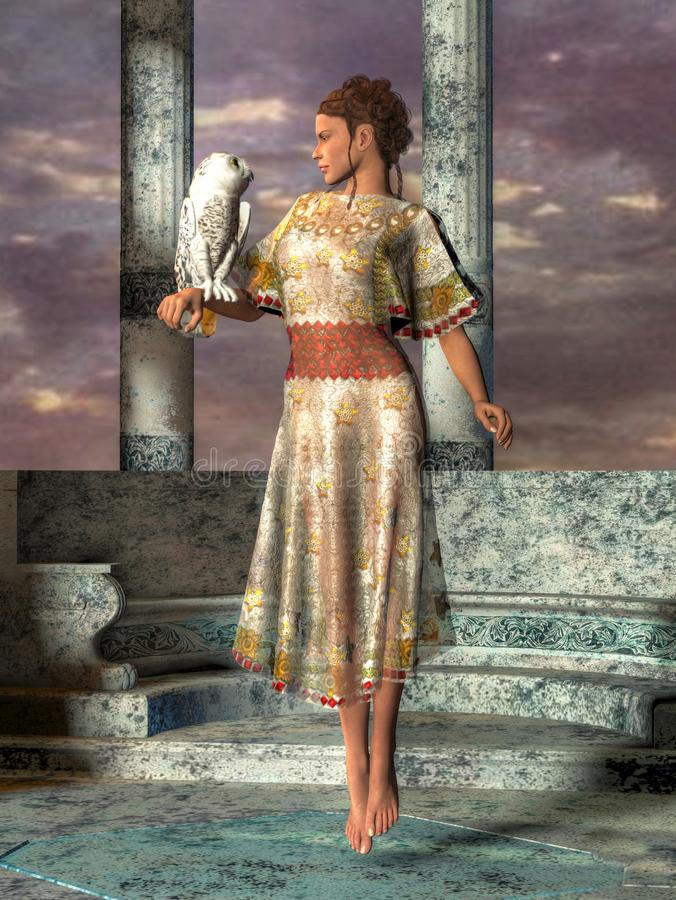 The Goddess Athena royalty free illustration