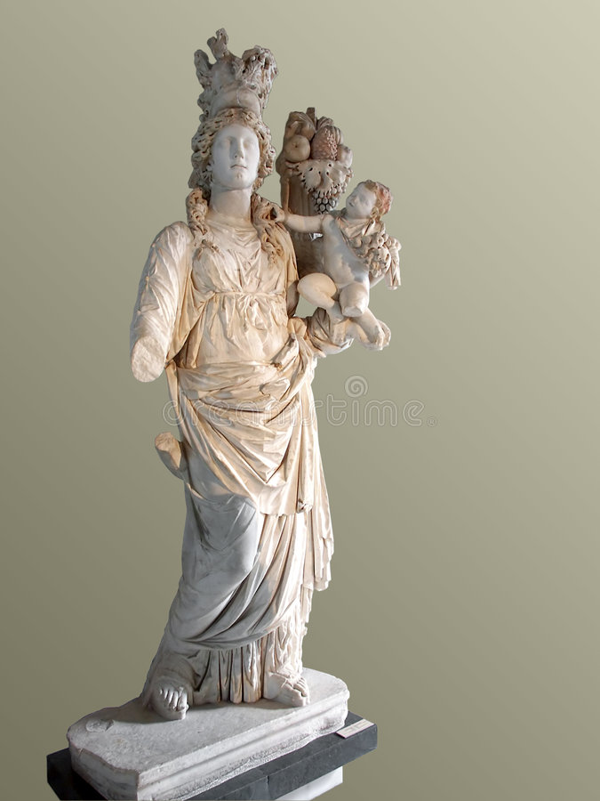 Goddess with child stock image