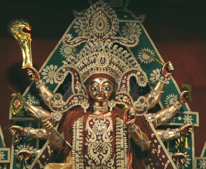 The Goddess Durga royalty free stock image