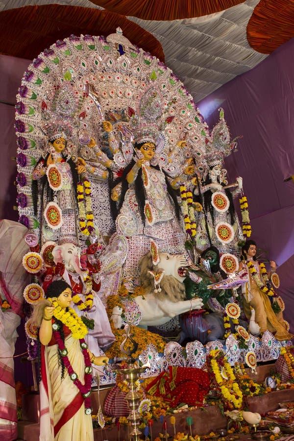 Goddess durga in durga puja stock images