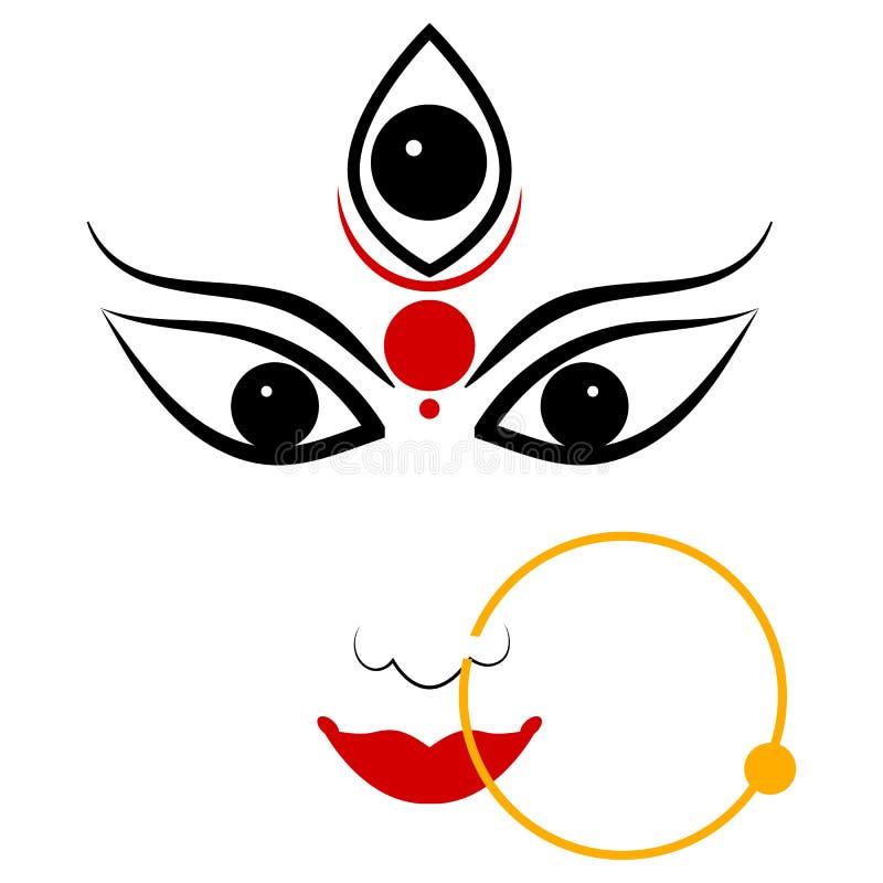Goddess Durga royalty free illustration