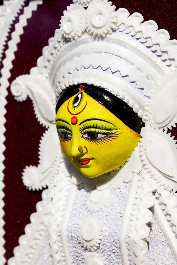 Goddess durga statue in surajkund fair stock photos