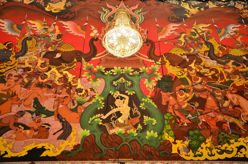 Goddess of the Earth protecting the Buddha royalty free stock photo