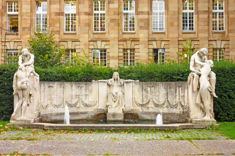 Download Goddess of fate stock photo. Image of fountain, hand - 22145670