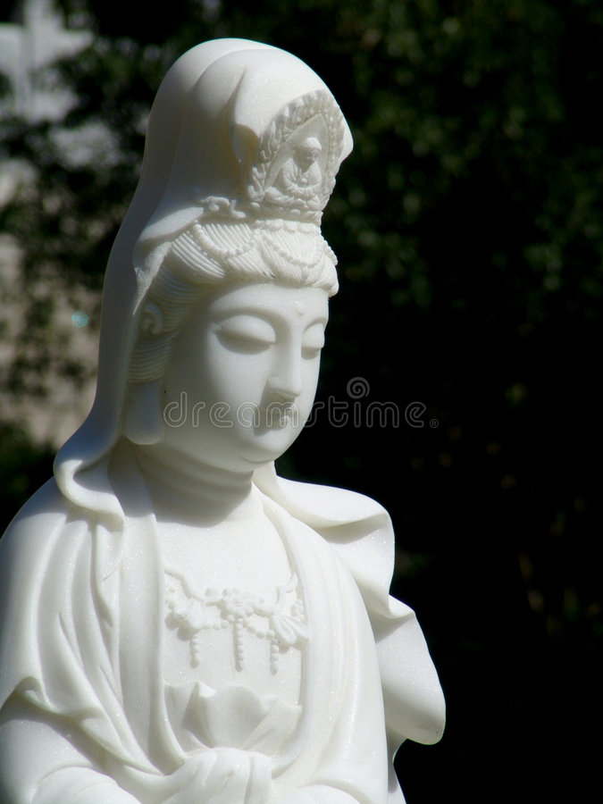 Goddess Guanyin Statue. Statue of the Goddess Guanyin royalty free stock image