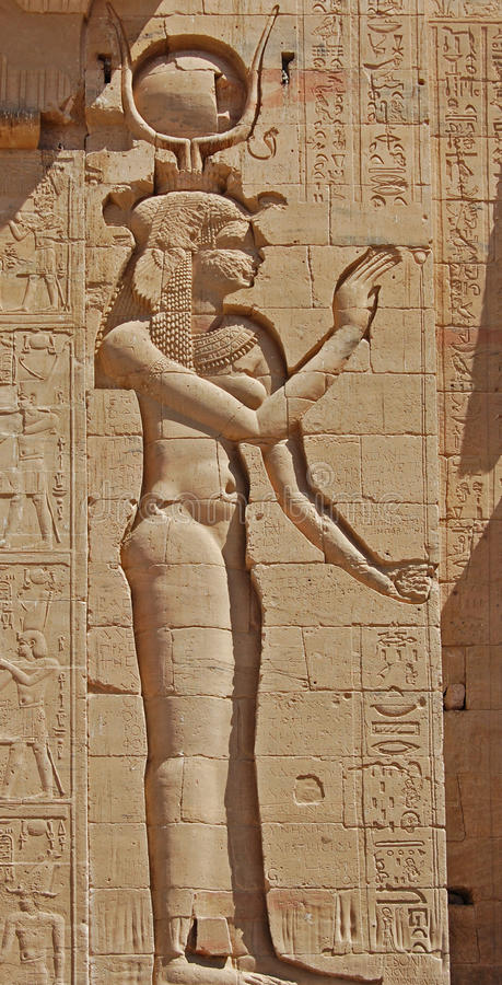 Download The Goddess Isis stock image. Image of aswan, hieroglyphic - 20336791