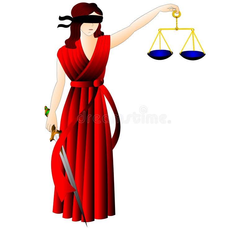 The Goddess of the justice-Femida. stock illustration