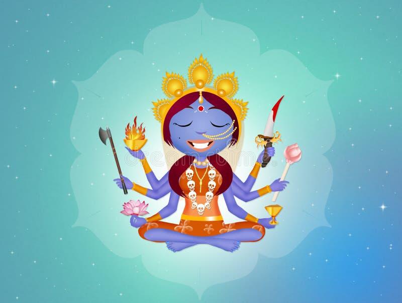 Goddess Kali. Funny illustration of Goddess Kali vector illustration