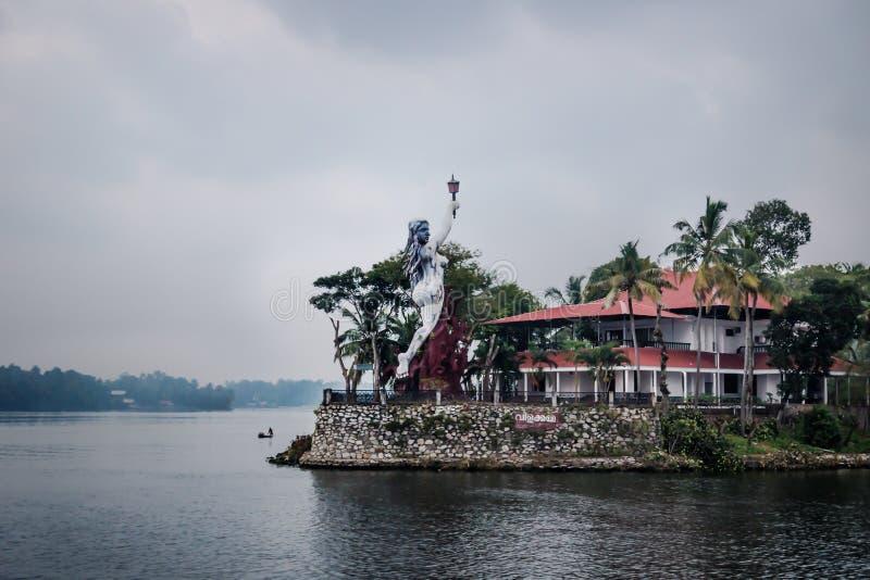 Goddess of Light Statue at the Valiyavila Golden Lake Resort, Kollam, Kerala, India. Goddess of Light Statue at the Valiyavila Golden Lake Resort in the stock photos