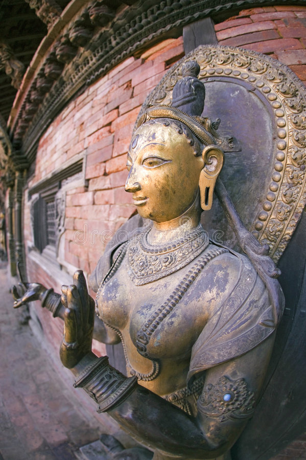 Download Goddess of Nepal stock photo. Image of carvings, nepalese - 3102320