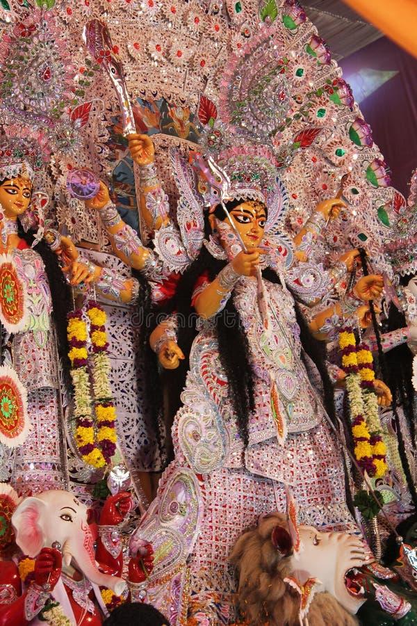 Goddess pandal in durga puja royalty free stock images