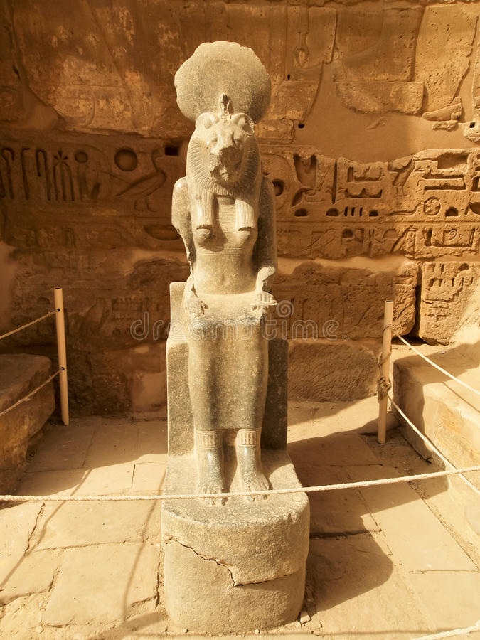 Goddess Sekhmet At The Temple Of Ramesses III Royalty Free Stock Image