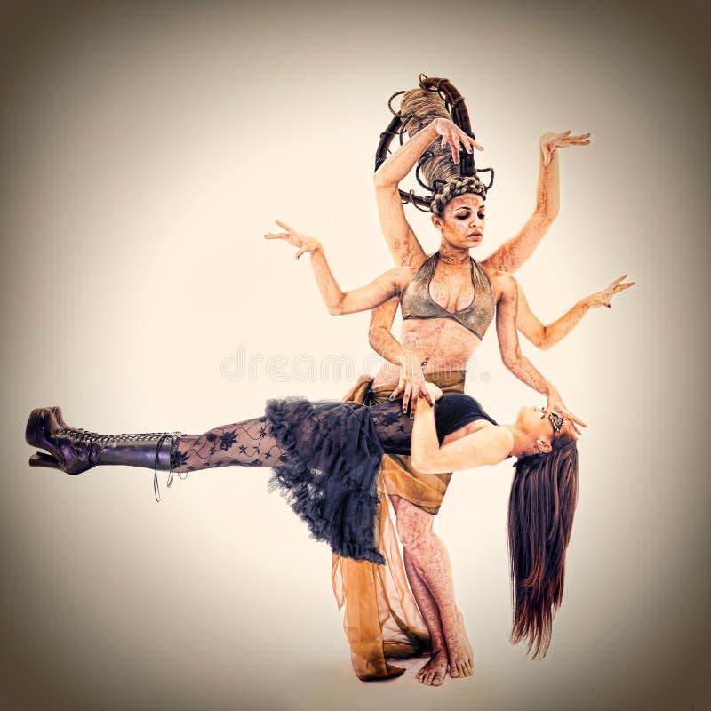 Download Goddess Or Sorceress Performing Enchantment Stock Illustration - Image: 23128413