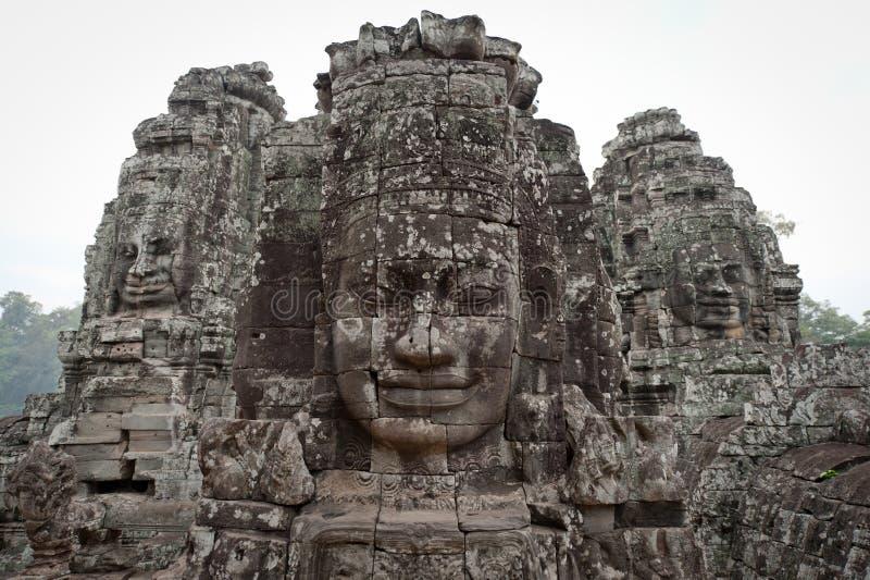 Goden van Angkor Thom stock fotografie