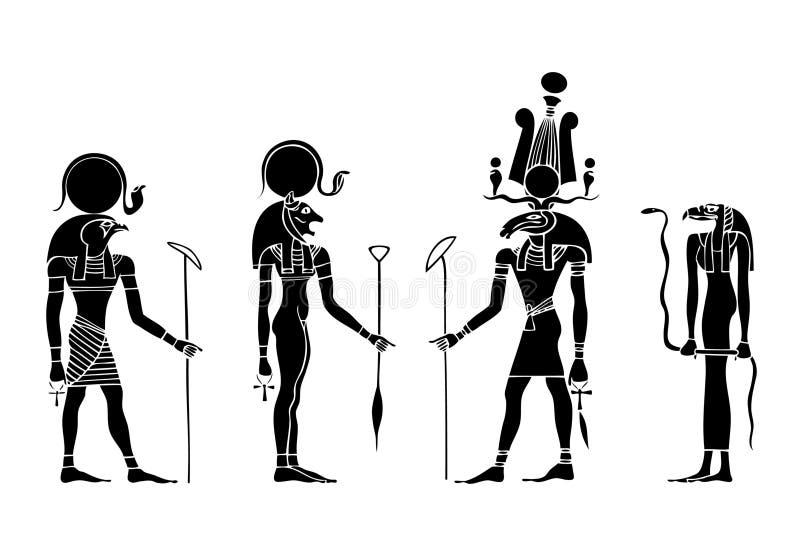 Goden van oud Egypte royalty-vrije illustratie