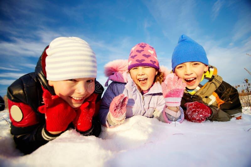 Godere dell'inverno immagine stock libera da diritti