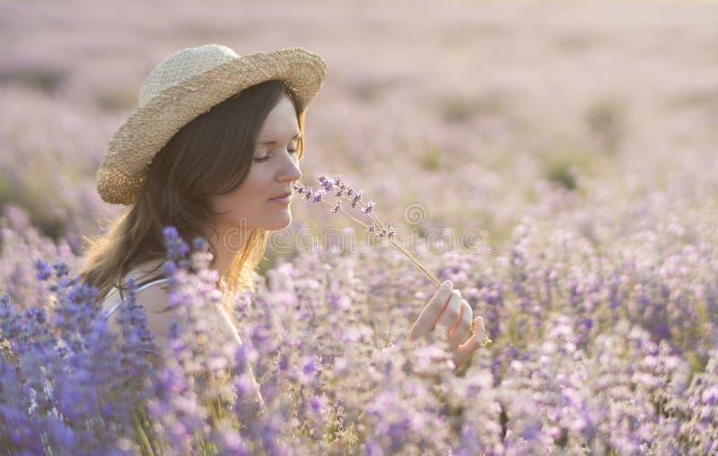 Godere della fragranza fotografie stock libere da diritti