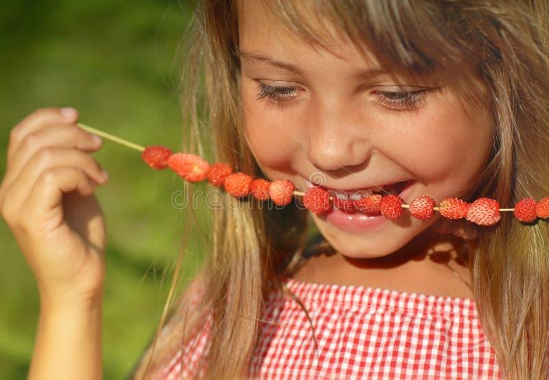Godere della frutta di estate fotografia stock