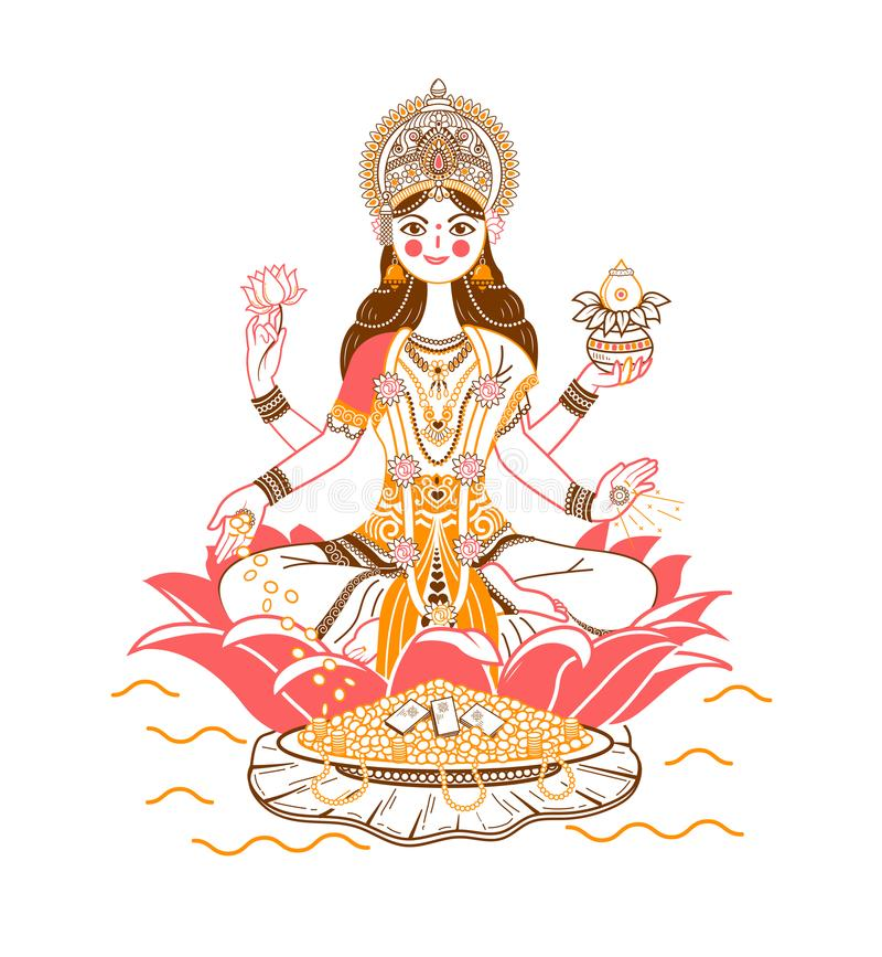 Godess Laxmi Icon vector illustration