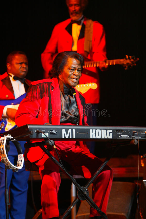The Godfather of Soul James Brown royalty free stock image