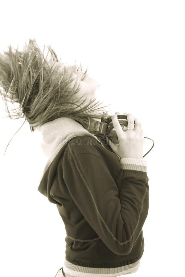 Godimento di musica fotografia stock libera da diritti