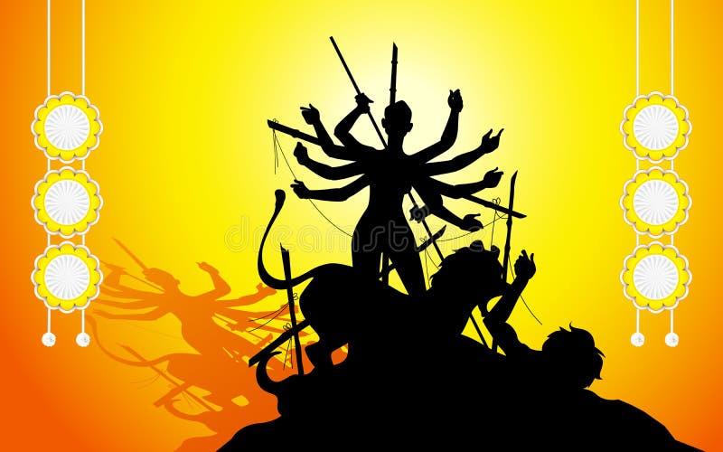 Godin Durga royalty-vrije illustratie