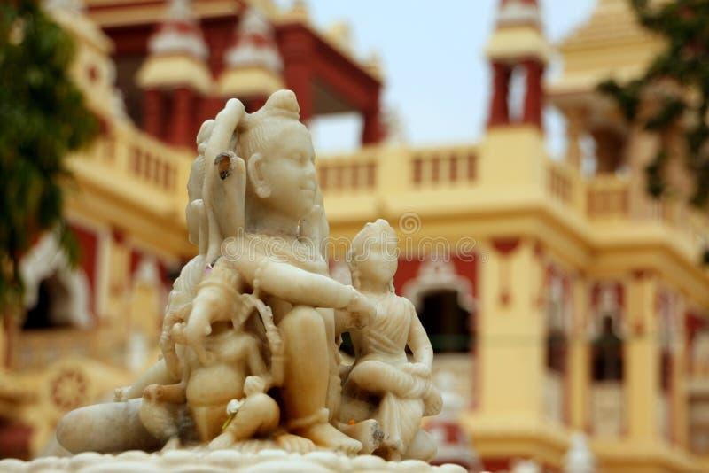 Godin en tempel royalty-vrije stock afbeelding