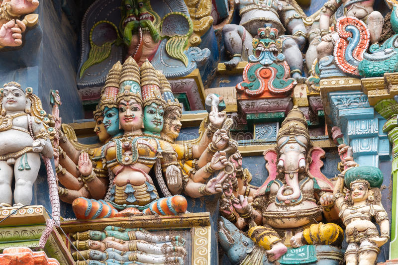 Godin Gayatri en vier Vedas stock afbeeldingen