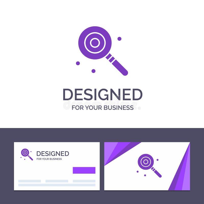 Godis för idérik mall för affärskort och logo, Lollypop, Lolly, söt vektorillustration royaltyfri illustrationer