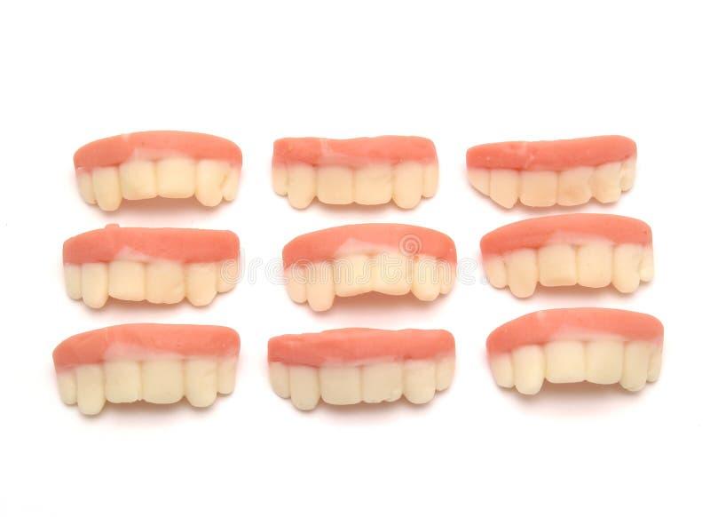 godis formade tänder royaltyfria bilder